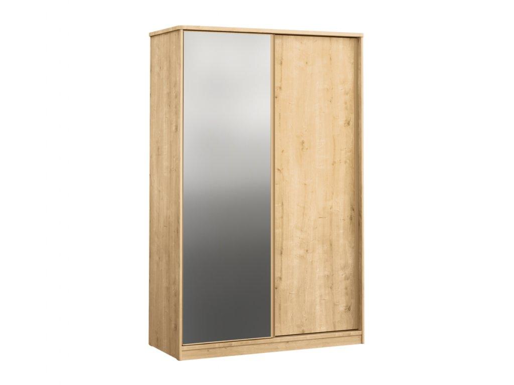 Skriňa s posuvnými dverami a zrkadlom Mocha