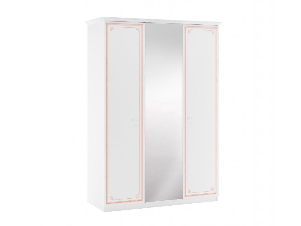 tridverova skrin se zrcadlem selena pink