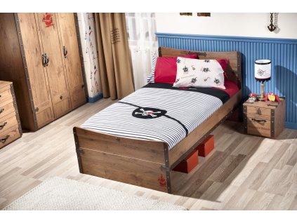Detská posteľ 120x200 cm Black Pirate
