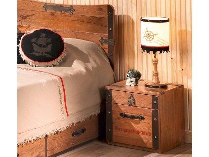 Detský nočný stolík Pirate