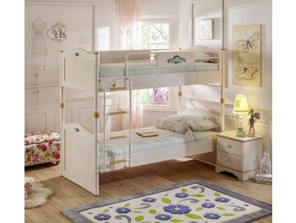 Študentská poschodová posteľ 90x200 cm Flora