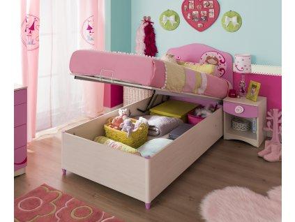 Posteľ s úložným priestorom 90x190 cm SL Princess