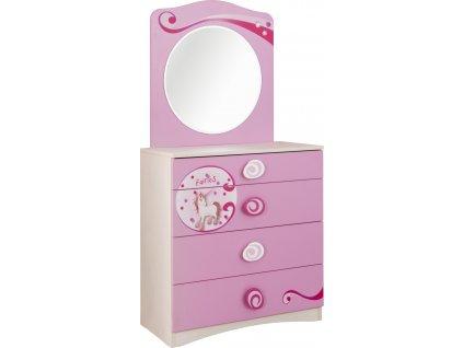 Detská komoda so zrkadlom SL Princess