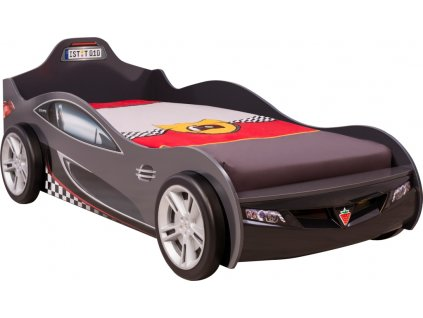 Detská posteľ auto 90x190 cm Coupe čierna
