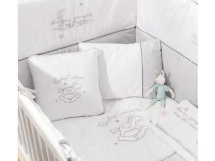 Posteľná súprava do postieľky 80x130 cm Baby Cotton