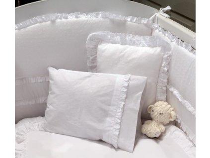 Posteľná súprava do detskej postieľky 70x130 cm biela