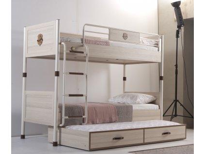 Detská poschodová posteľ s prístelkou Royal
