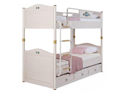 Študentská poschodová posteľ s prístelkou Flora