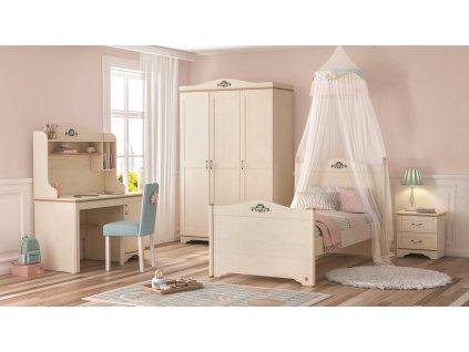 Študentská posteľ 100x200 cm Flora