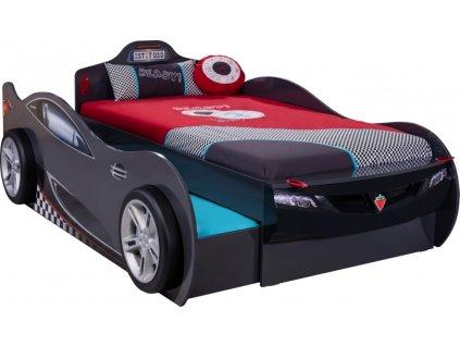 Detská posteľ auto 90x190 cm Coupe Friend čierna