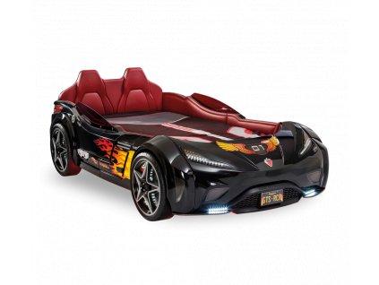 Detská posteľ auto 100x190 cm GTS čierna