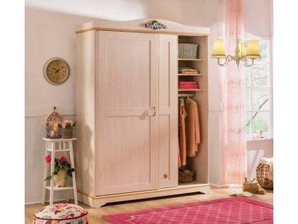 Študentská šatníková skriňa s posuvnými dverami Flora