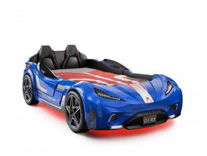 Detská posteľ auto 100x190 GTS modrá