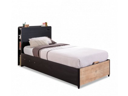 studentska postel vyklapeci black