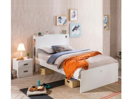 Študentská posteľ 120x200 cm White