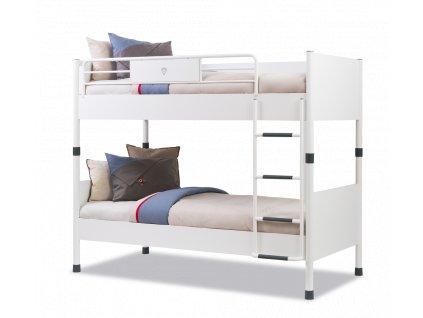 Študentská poschodová posteľ 90x200 cm White