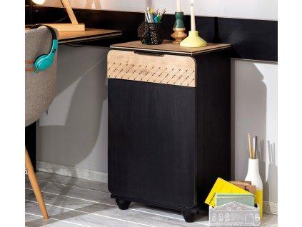 Študentský nočný stolík Black compact