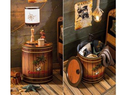 Detský nočný stolík sud Pirate