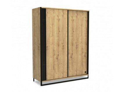 skrin s posuvnymi dvermi wood metal