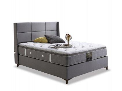 luxusni postel s calounenym celem omega