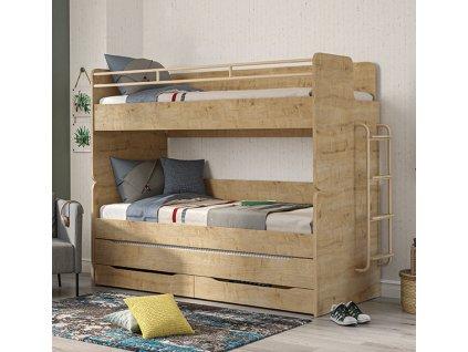 parova postel mocha s uloznym prostorem