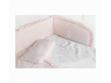 lozni souprava do postylky k posteli ruzova