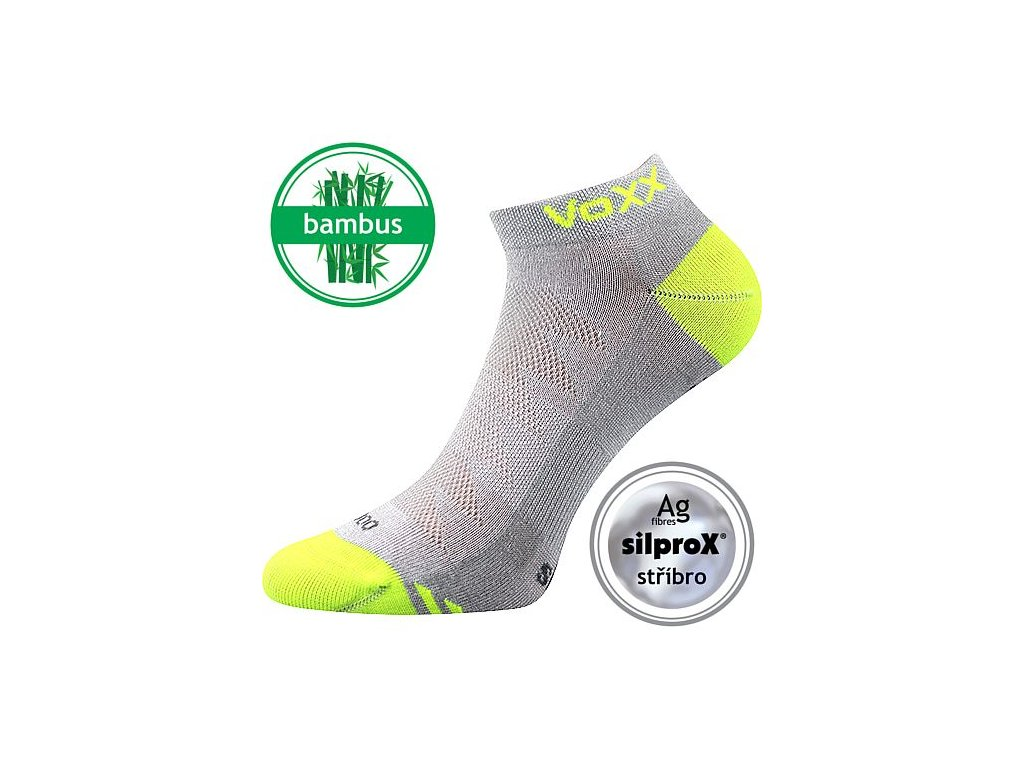 Nízké letní bambusové ponožky VoXX BOJAR - šedé - set 3 párů