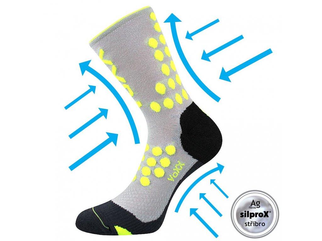 Kompresní ponožky Finish světle šedá