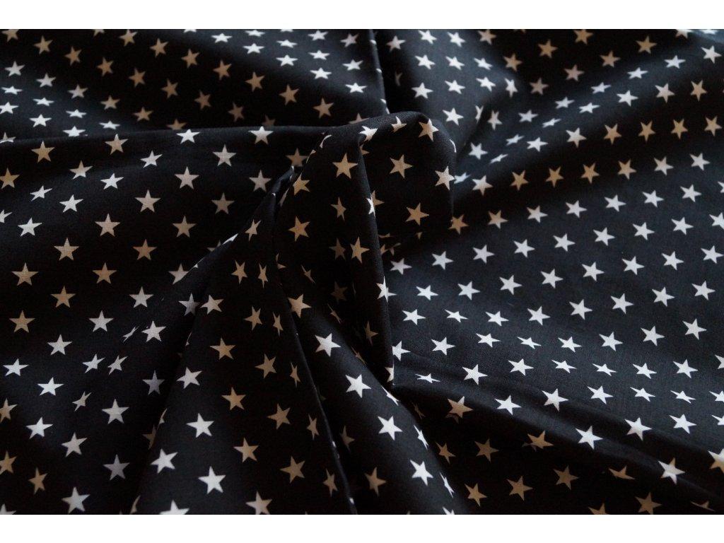 černý ubrus s hvězdami