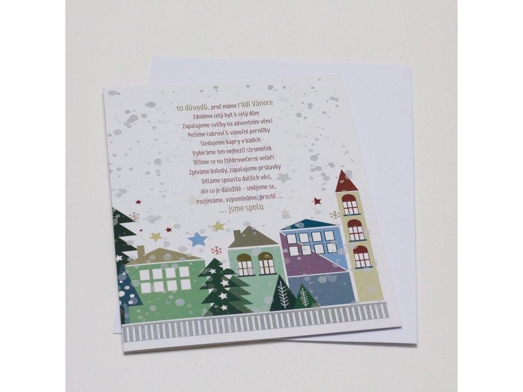 Blahopřání - Vánoční domečky