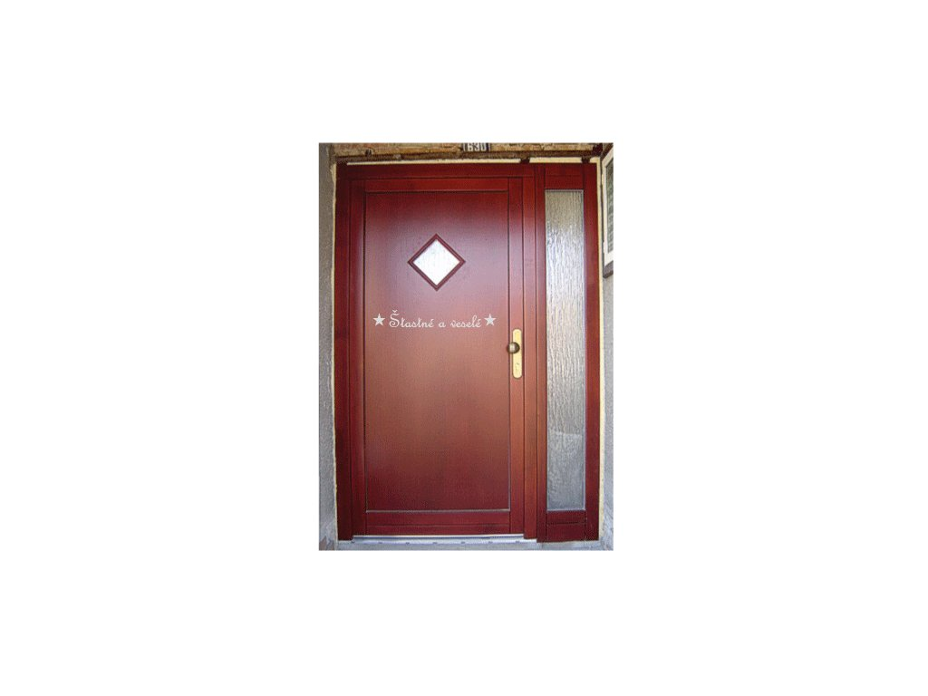 Dveře Šťastné a veselé