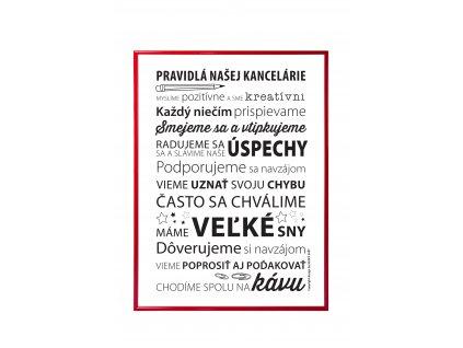 pravidla kanceláře SK v červeném rámu