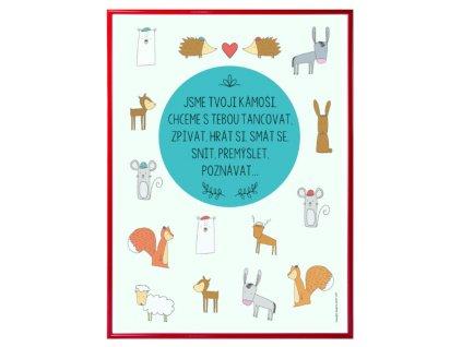 """Plakát - """"Se zvířátky"""""""