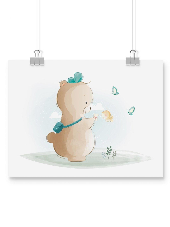 poster wall mockup eshop medvedi kluk
