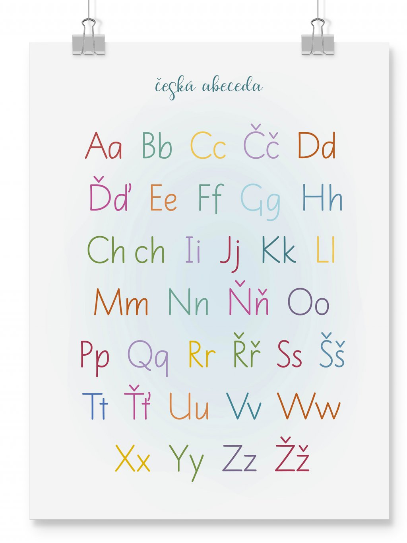 poster wall mockup abeceda CZ