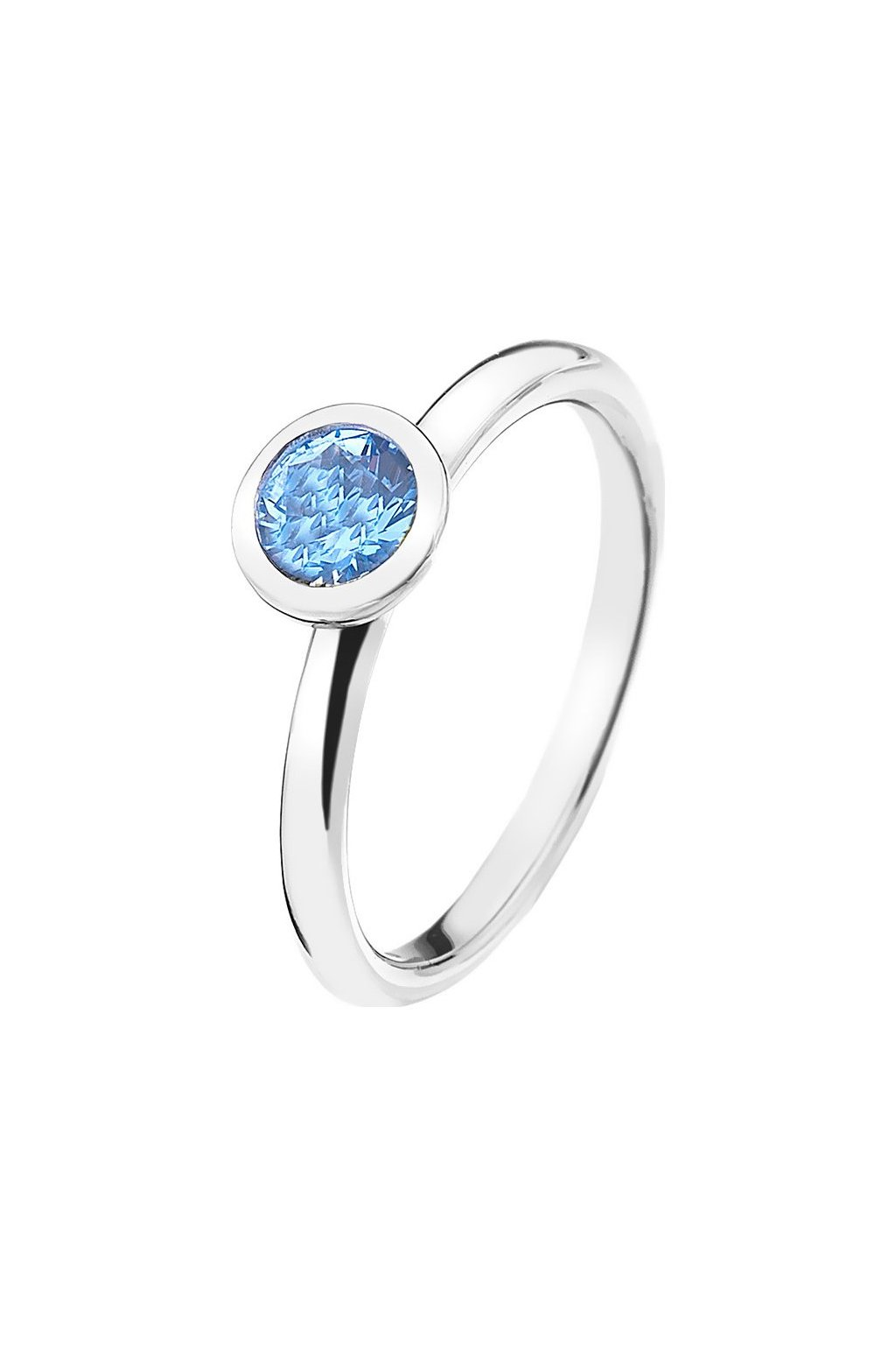 Stříbrný prsten Hot Diamonds Emozioni Scintilla Blue Peace
