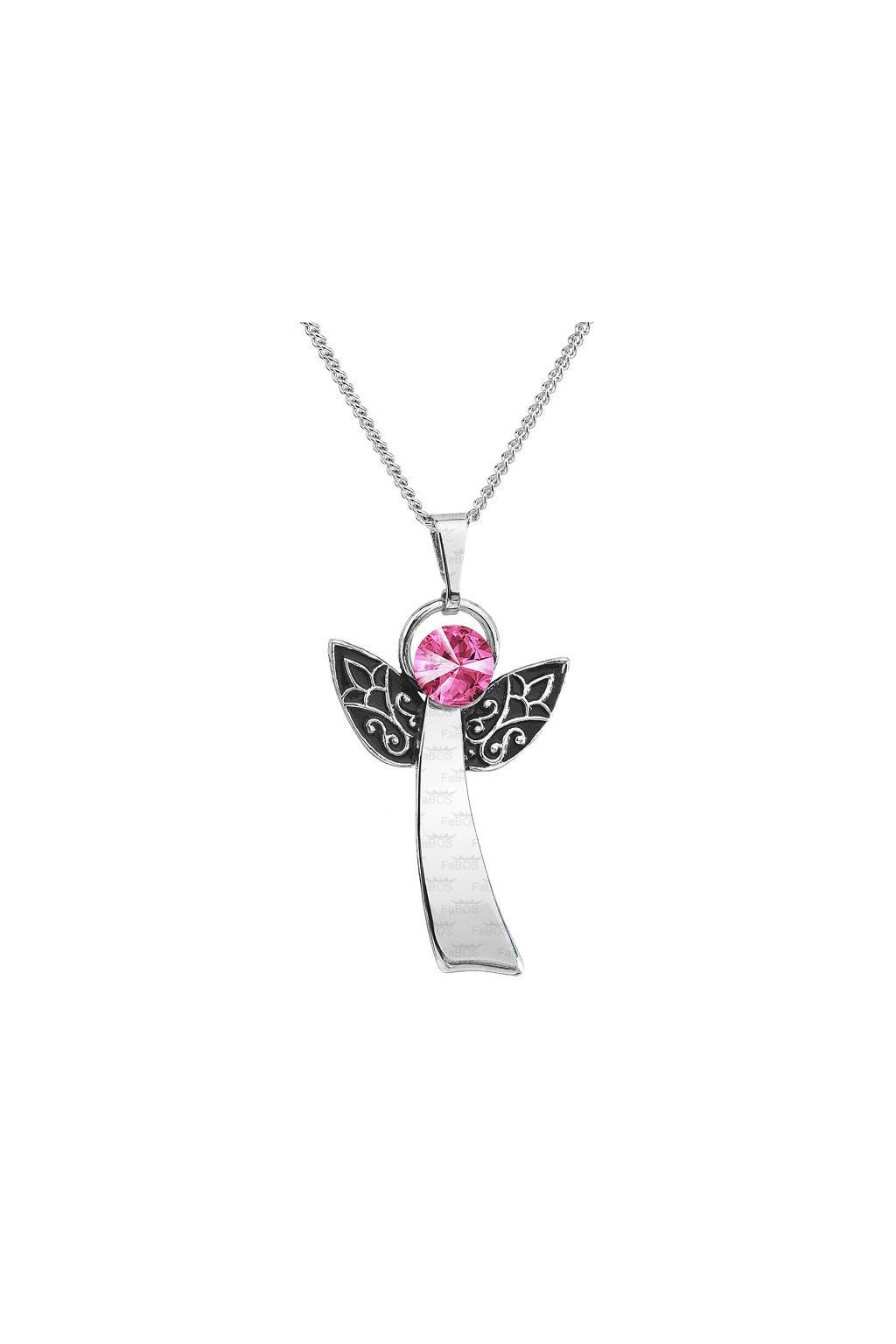 Náhrdelník Anděl štěstí rose FABOS