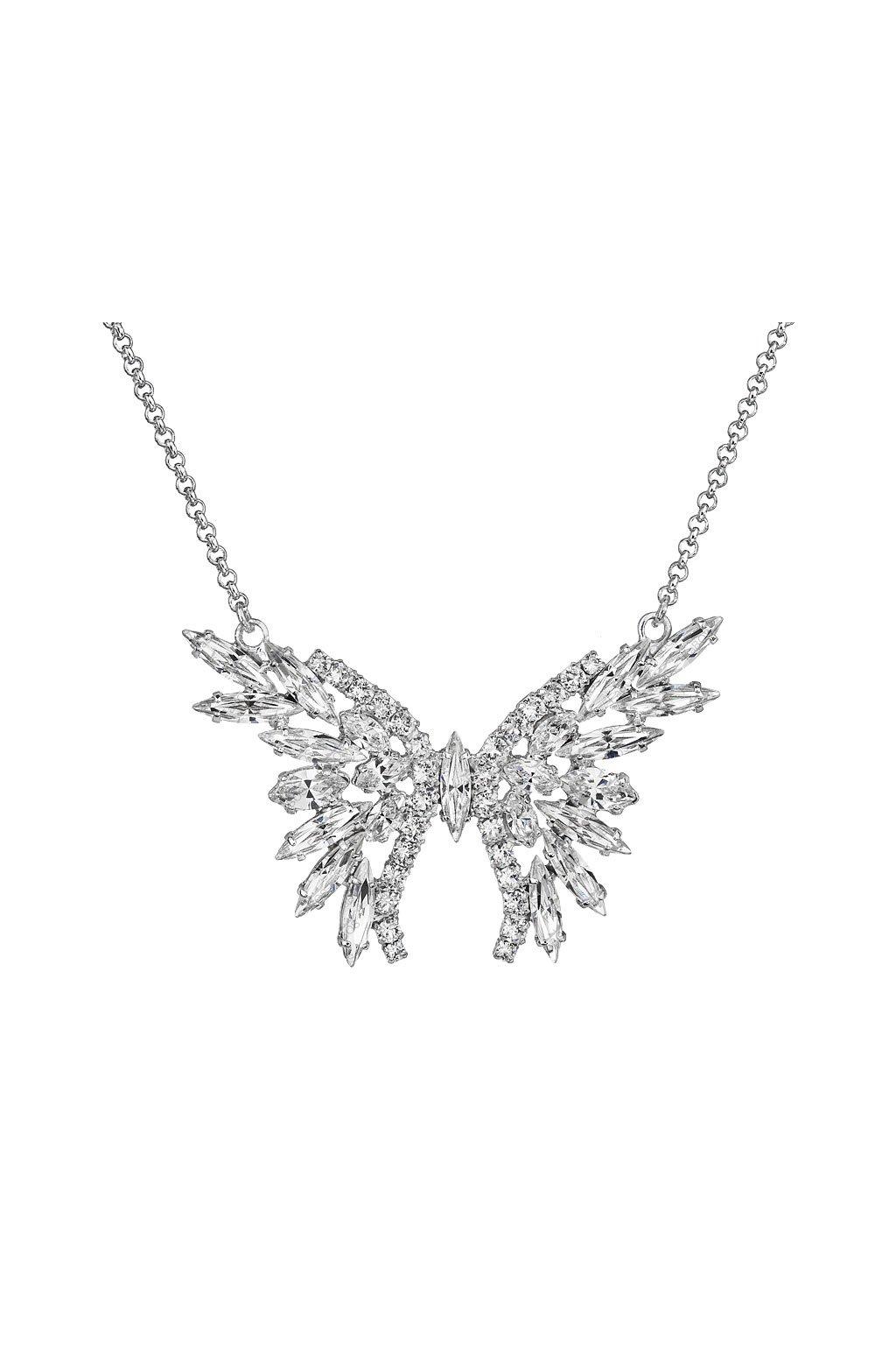 Náhrdelník štrasový motýl crystal Swarovski