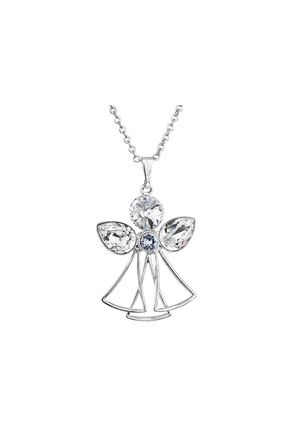 Náhrdelník Anděl hruška Crystal Swarovski