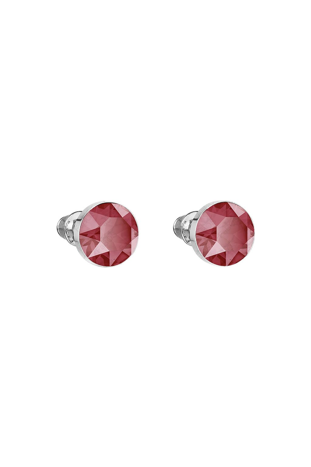Náušnice Šaton 8mm puzeta Royal Red Swarovski