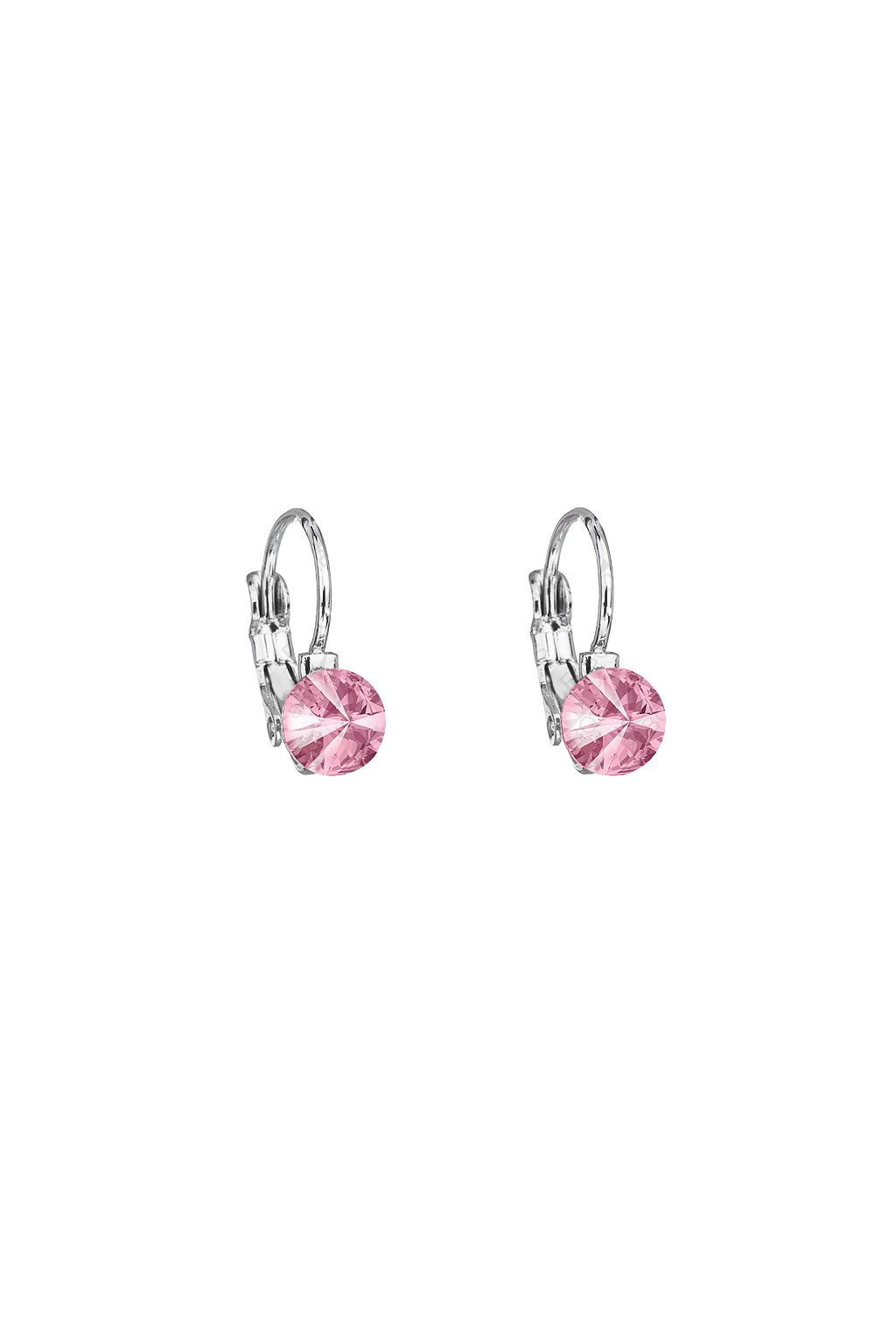 Náušnice Rivoli 6mm klapka Light Rose Swarovski