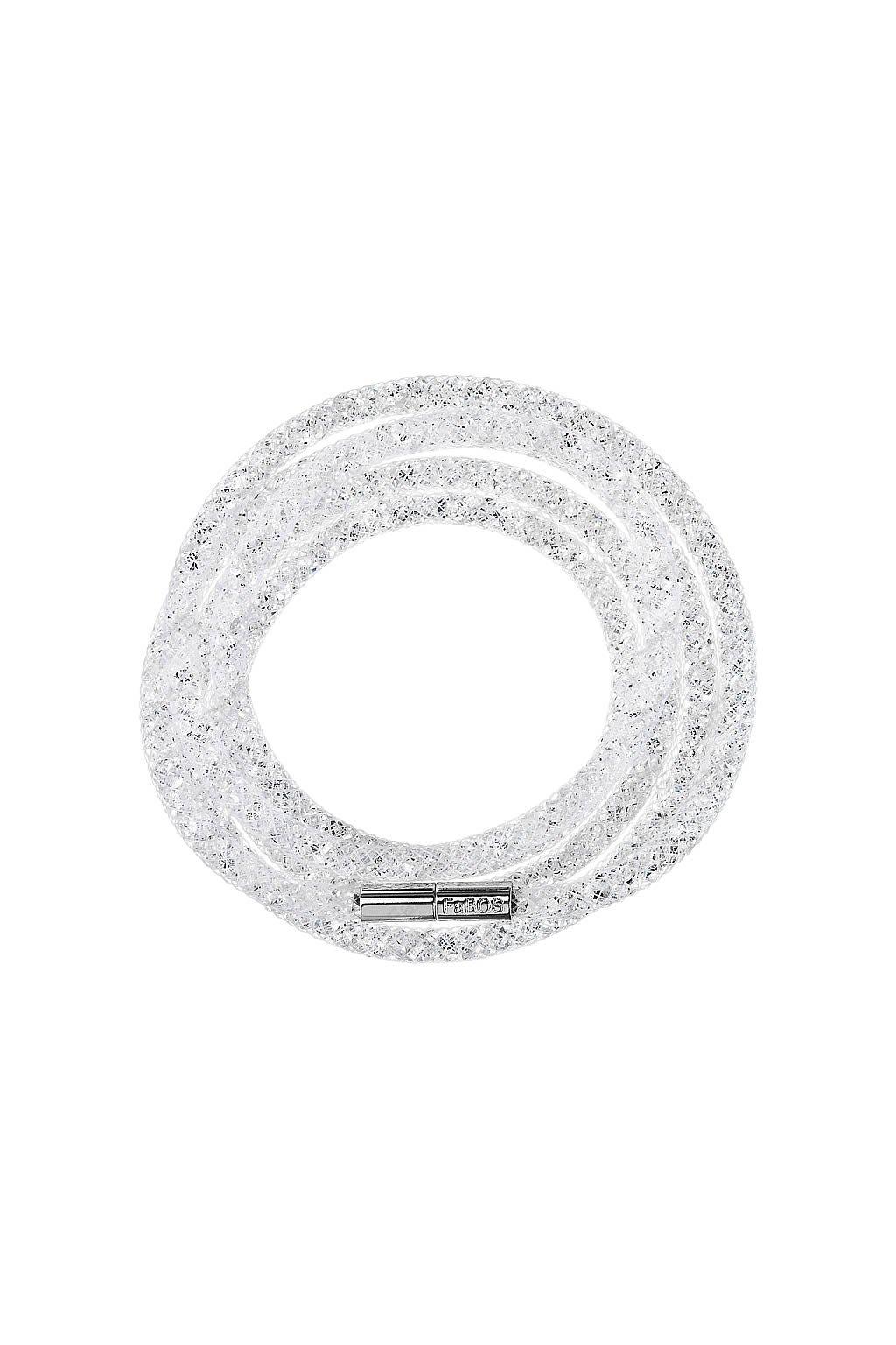 Náramek Crystal Tube 100 cm bílá