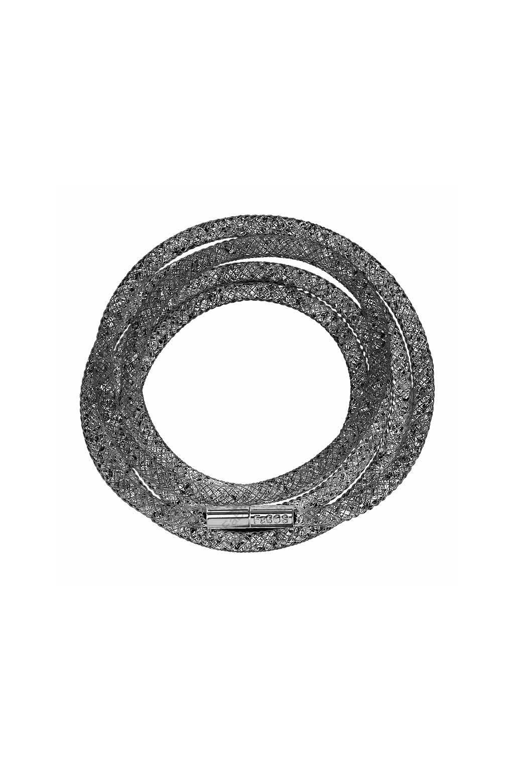 Náramek Crystal Tube 100 cm černá Swarovski