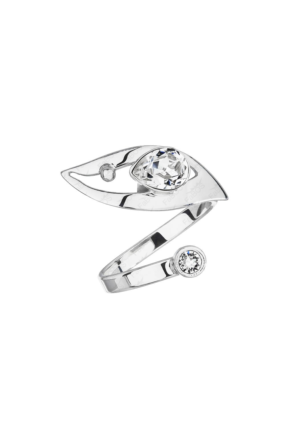 Prsten Hruška s výřezem Crystal SWAROVSKI