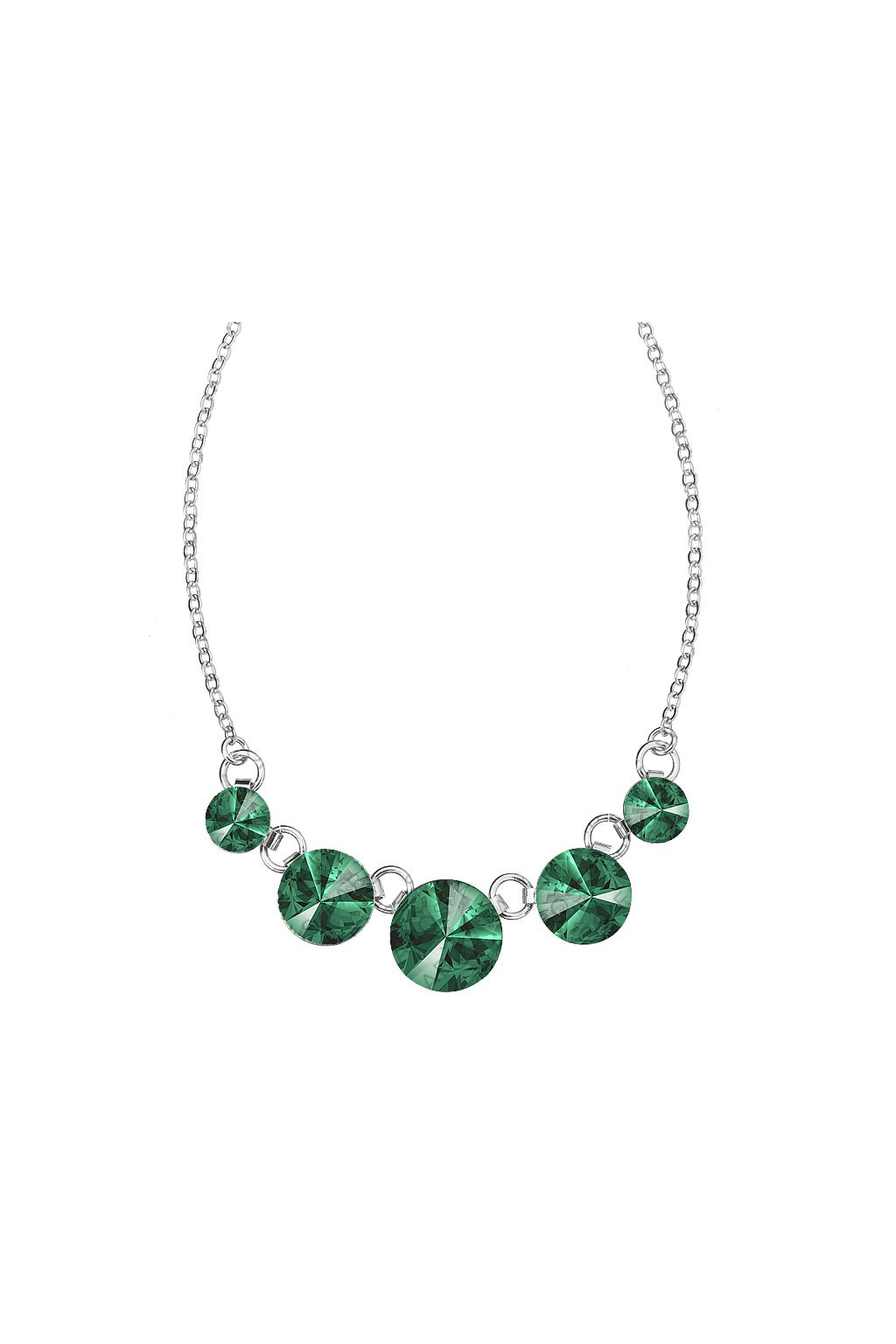 Náhrdelník Rivoli 8-14 Emerald  elements Swarovski