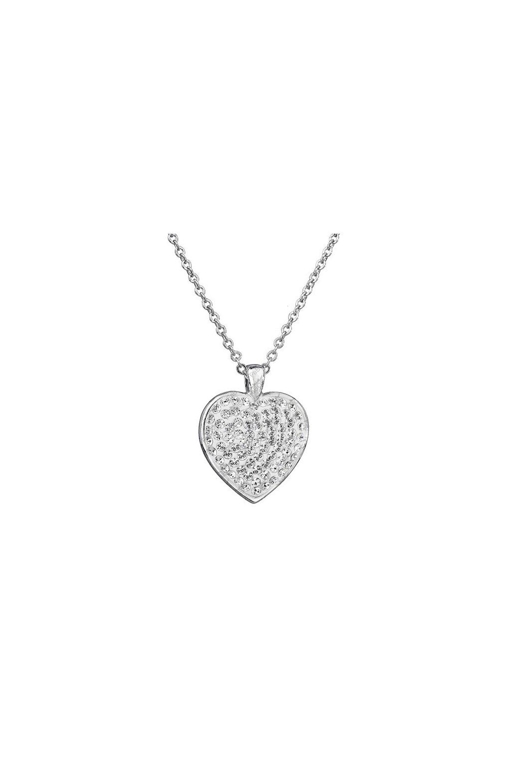 Náhrdelník Evelin srdce Swarovski elements