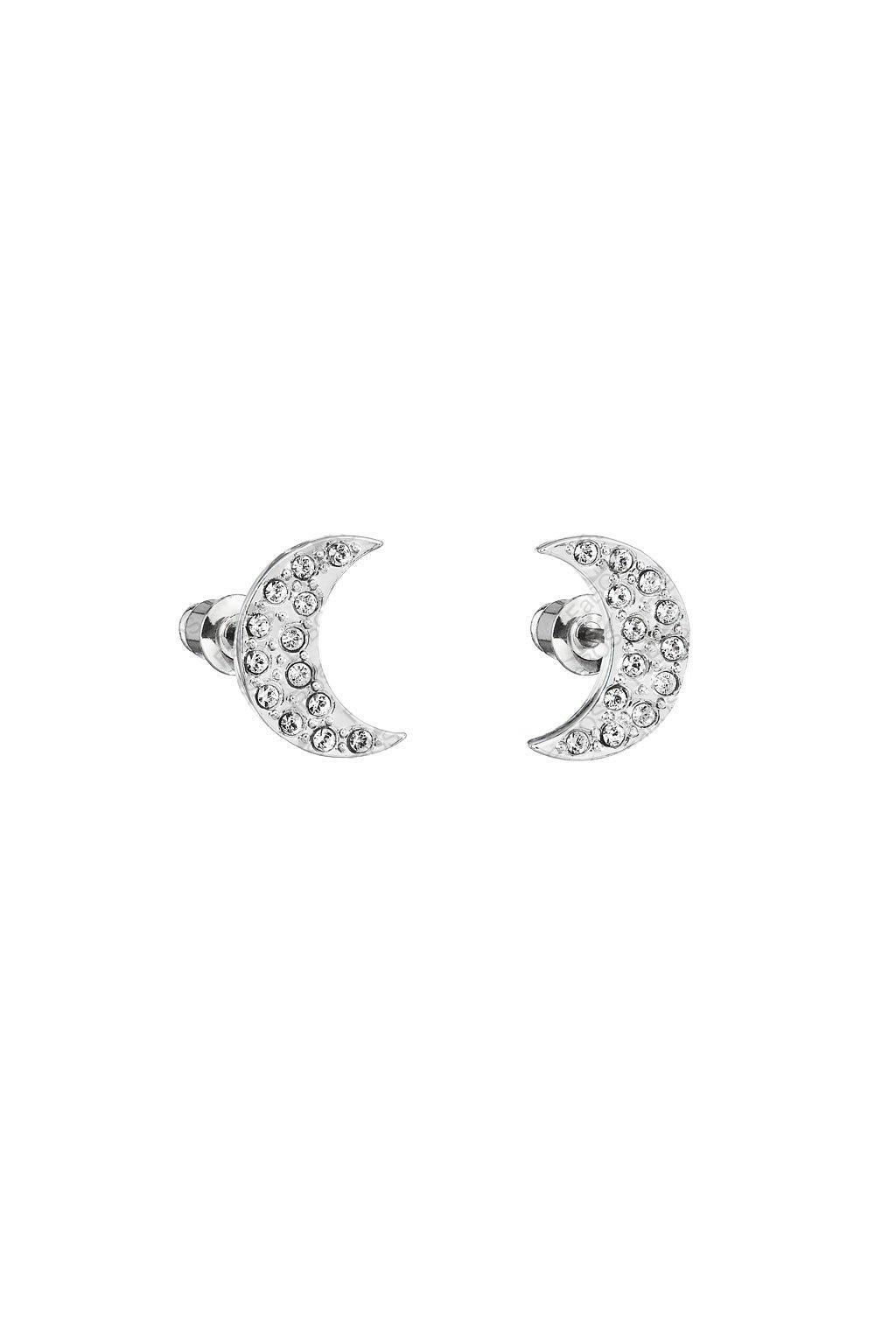 Náušnice Měsíc s šatony Crystal Swarovski