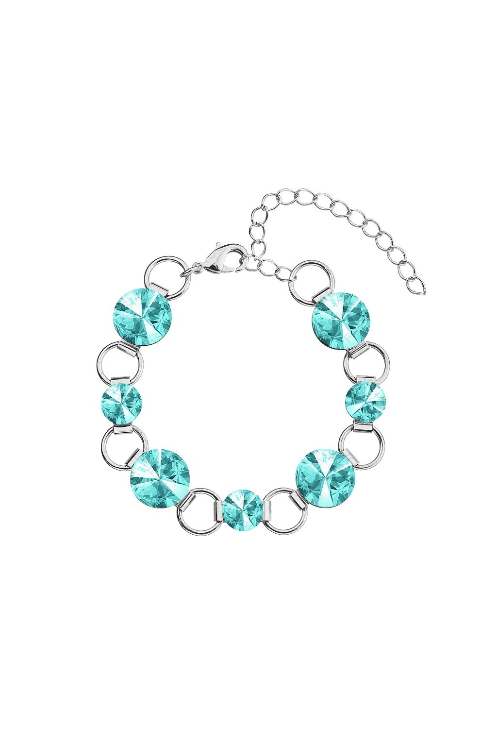 Náramek Rivoli 8-12 Turquoise  elements Swarovski