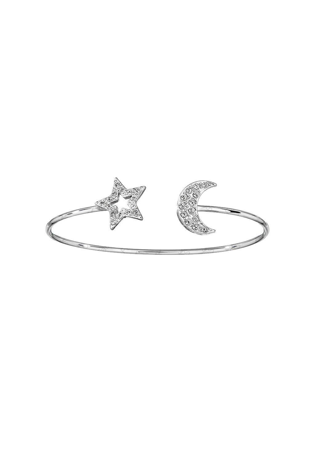 Náramek Hvězda a měsíc Crystal SWAROVSKI