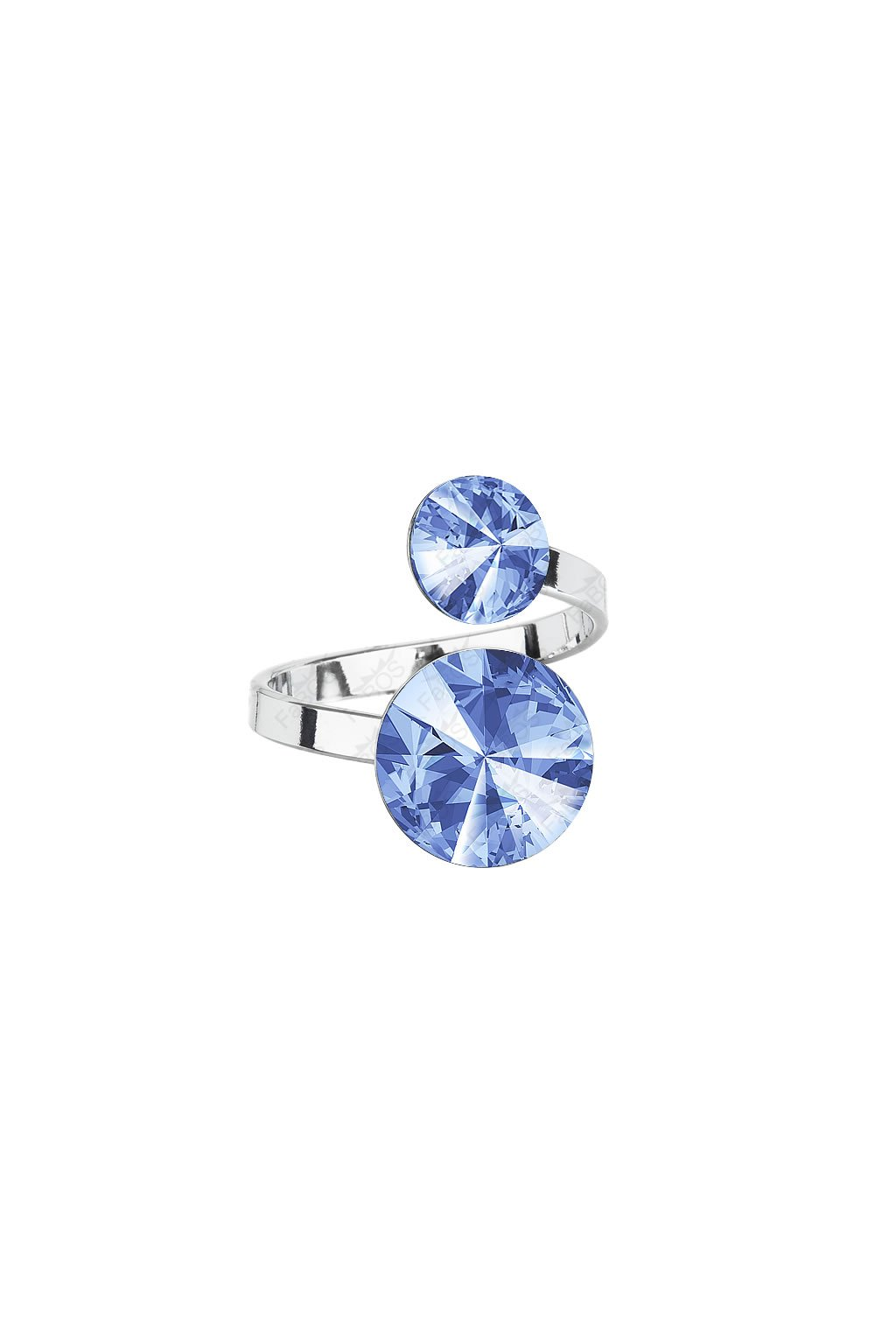 Prsten Rivoli 8-12 Light Sapphire SWAROVSKI